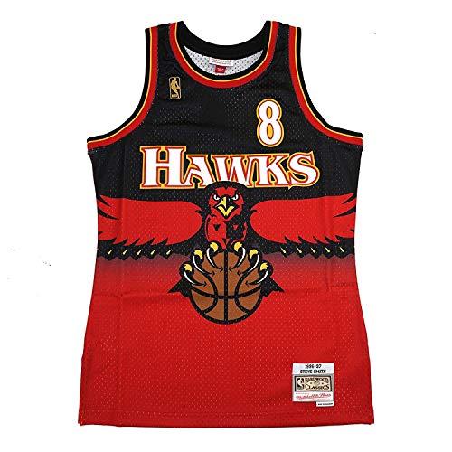 (Mitchell & Ness Atlanta Hawks Steve Smith 1996 Road Swingman Jersey (Large))