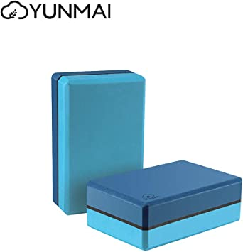 Amazon.com : YUNMAI Yoga Block Set of 2 Foam Block 9