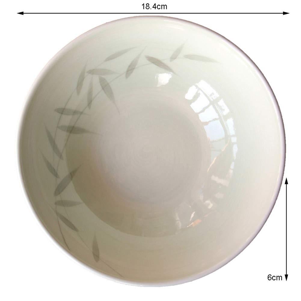 FGSLW 日本の陶器の家スープボウル、クリエイティブラーメンボウル、ミキシングボウル、デザートボウル(7.5インチ) (サイズ さいず : Set of 6) Set of 6  B07KWXDYN3