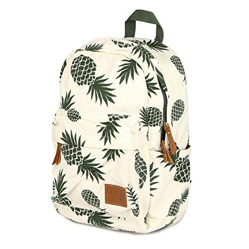 8826e940b0 CCOHO White Pineapple School Backpack Travel Daypack College Canvas Bookbag  Laptop Bag Laptop Packs Women