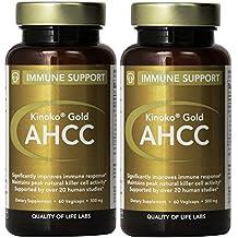 Kinoko Gold AHCC Capsules - 60 Vegicaps (Pack of 2)