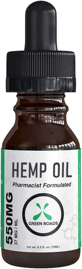 Hemp Oil Drops Green Roads World 550mg 100% Natural Extract, Anti-Anxiety and Anti-Stress