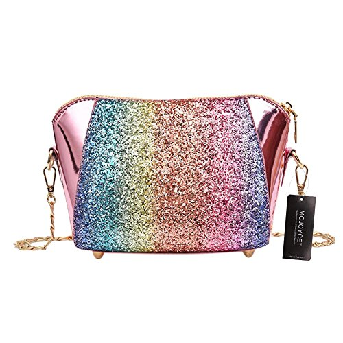 Sequins Chain Party Bags Leather Pink Women Everpert Crossbody Casual Shoulder Shell Otqwd4d