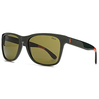 Polo Ralph Lauren PH4106 Sonnenbrille Olivgrün 557073 57mm YESz0