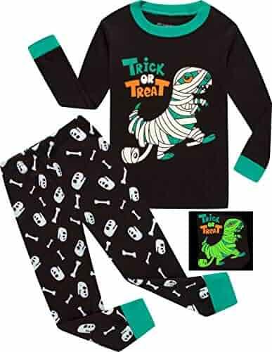 Pajamas for Boys Happy Halloween Ghost Sleepwear Children Long Sleeves  Pants Set 23b93d694