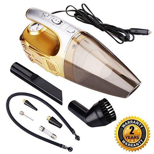 4-in-1 Car Vacuum Cleaner - Car Vacuum with LED Light, Tire