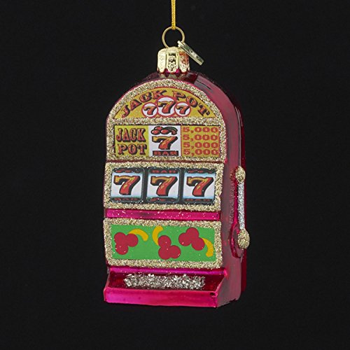 Noble Gems Kurt Adler 3-1/2-Inch Glass Slot Machine Ornament - Machine Ornament