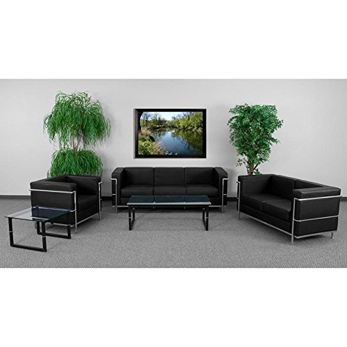 - Flash Furniture HERCULES Regal Series Reception Set in Black