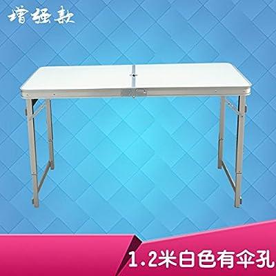 Xing Lin Table Pliable Une Table Pliante Table Pliante Aluminium Portable Et Une Chaise Pliante De Décrochage Simple Propagation Propagande Table Table Sauvage 120*60*70Cm, L'Amélioration De 1,2 Mètres Tr