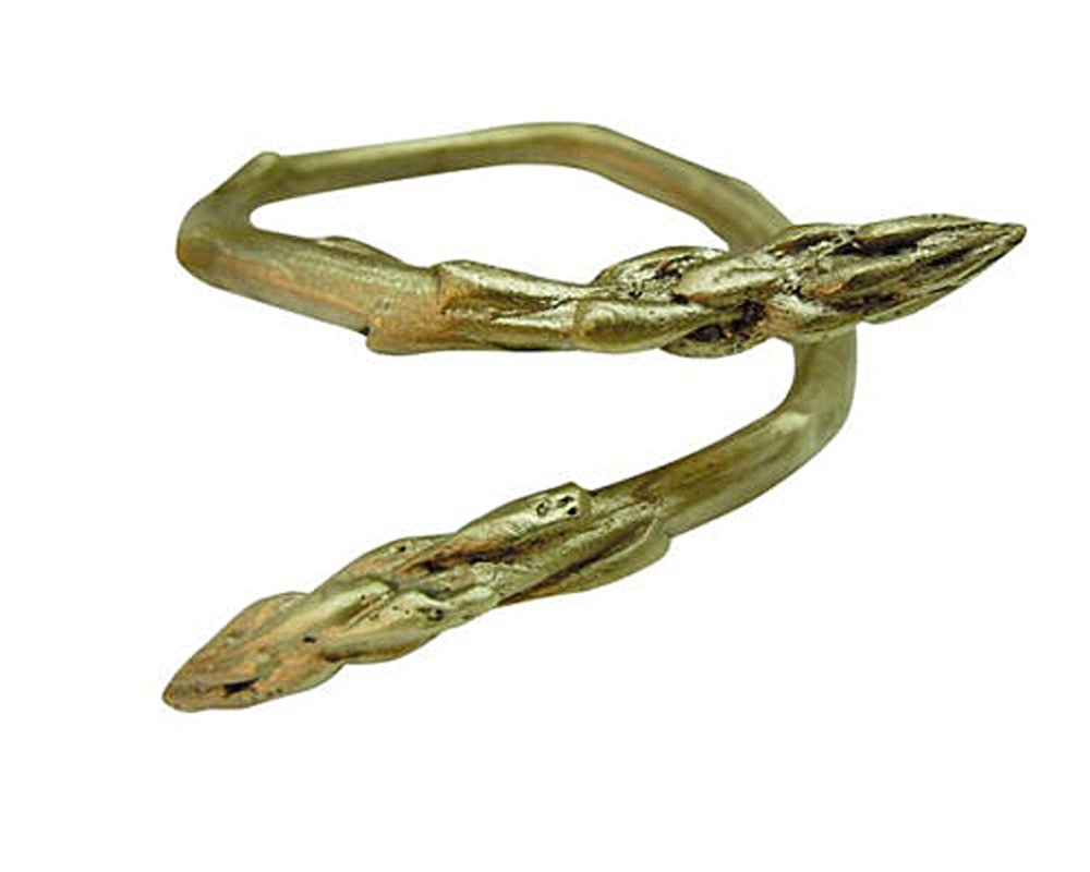 Curled ''Asparagas'' Napkin Rings (Set of 4) ~ Table Art by Michael Michaud for Silver Seasons