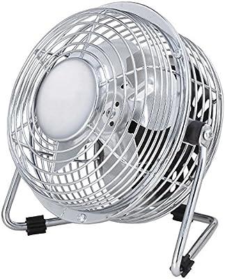 QIN Ventiladores De Mesa Metal Wind Machine Inclinación del ...