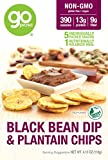 GoPicnic Ready-to-Eat Meals Black Bean Dip & Plantain Chips, 4.13 ounce boxes (Pack of 6)