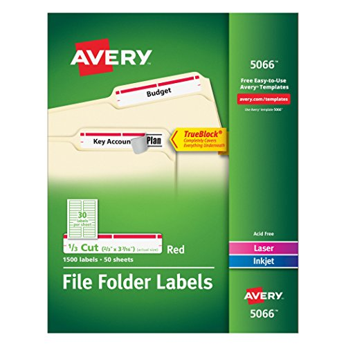 Avery File Label Templates - 5