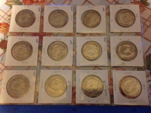 Two Silver Coins Bolivarian Republic of Venezuela Minted 1954