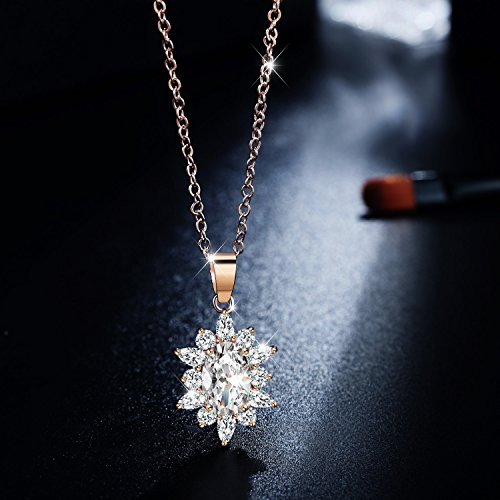 ♥Valentine's Day Gift♥, Incaton Earrings Necklace Sets Cubic Zirconia Snowflake Jewelry Set for Women Girl
