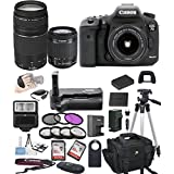 Canon EOS 7D Mark II Digital SLR Camera w/ EF-S 18-55mm + 75-300mm Telephoto Zoom Lens Bundle includes Camera, Lenses, Filters, Bag, Memory Cards , Power Grip, Tripod ,and More - International Version