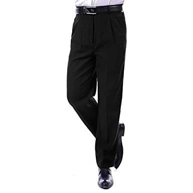 BOZEVON Pantalones de Traje de Hombre - Formal Pantalones de ...