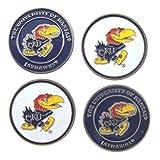 (4) Kansas Jayhawks Golf Ball Markers