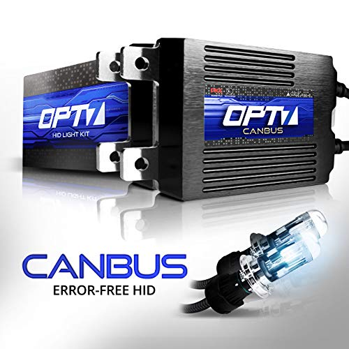 OPT7 Boltzen AC CANbus 9007 Bi-Xenon HID Kit - 5X Brighter - 6X Longer Life - All Bulb Sizes and Colors - 2 Yr Warranty [8000K Ice Blue Light] ()
