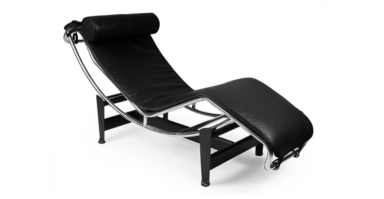Amazon.com: Kardiel Gravity Chaise Lounge, Black Aniline Leather: Kitchen U0026  Dining