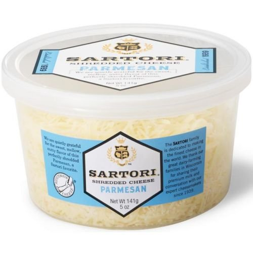Sartori Classic Parmesan Shredded Cheese, 5 Ounce Cup - 12 per case.