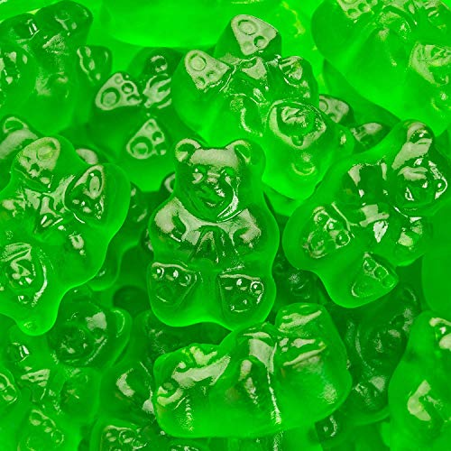 Albanese Candy, Green Apple Gummi Bears, 5 Pound Bag