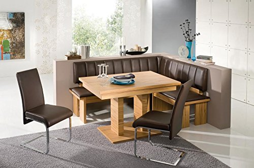 The Falco Dining Set made with European standard leatherette. A modern designed breakfast nook (Pillows Breakfast Nook)