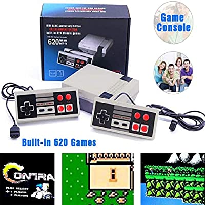 NQMEKOF Game Consoles with Built in Games Hdmi PIug Play Classic Game 620 Dual Happy Mini System, Classic Controllers: Toys & Games