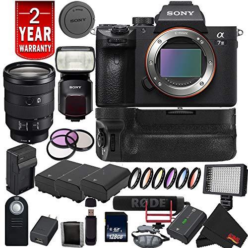Sony Alpha a7 III ILCE7M3/B Mirrorless Digital Camera International Model + Sony 24-105mm Lens Advanced Bundle