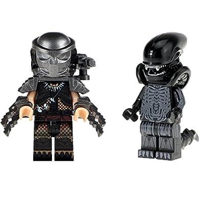 Alien Minifigure Aliens Xenomorph Predator Custom Inspired Building Block Predator Toy Mini Figure Compatible Bricks 2 Pack by Dan's Collectibles and More: Health & Personal Care