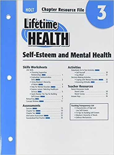 Buy Lifetime Health Chapter Resource File Chapter 3 Self