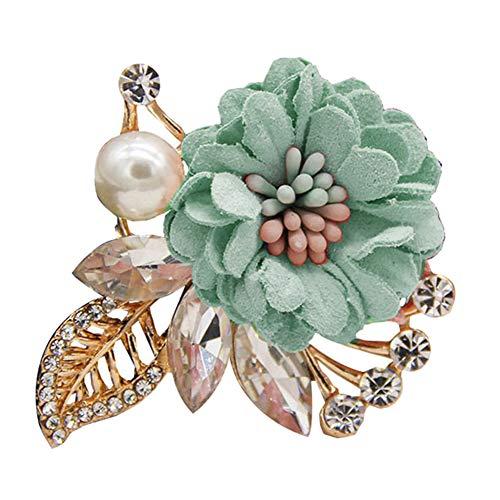 Finance Plan Fashion Women Flower Faux Pearl Rhinestone Brooch Pin Clothes Jewelry Decor
