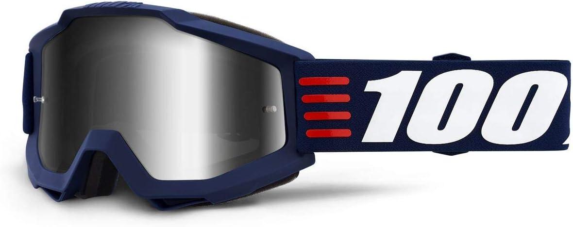 100 Percent ACCURI Goggle Art Deco-Mirror Silver Lens Gafas de protecci/ón Mediano Azul-Cristal Oscuro Adultos Unisex
