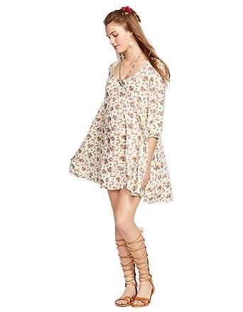 60f8a79eb Denim   Supply Ralph Lauren Floral Print Babydoll Dress (Small) at ...