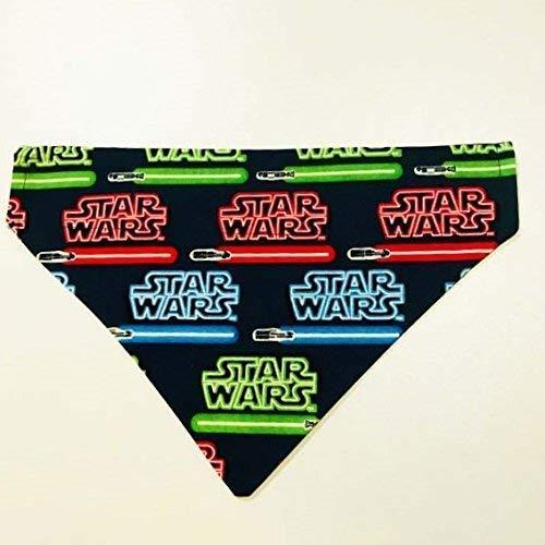 Star Wars Lightsaber Pet No-Tie Dog Bandana Over the Collar Kerchief