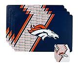 NFL Denver Broncos Placemat Coaster Set