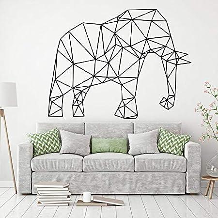 grande qualità vendite all'ingrosso data di uscita: YIYEBAOFU Adesivi Murali Pallaelefante Poligono Geometrico Animale ...