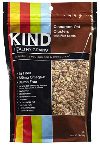 Healthy Grains Cinnamon Oat Cluster with Flax 11 Ounces (Case of 6) by KIND