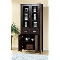 Smart Home Attwell Traditional Home Office Bookcase Cabinet (Red Cocoa)