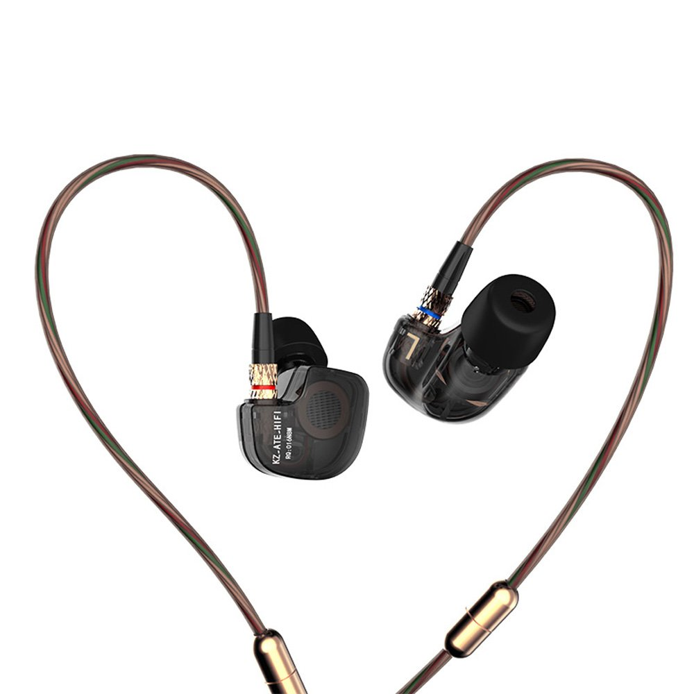 WishLotus Copper Driver HI-FI Sports Headphones Stereo Headset Earphone In-Ear Earbuds with Foam Eartips for Smartphone Apple iPhone iPad iPod Samsung HTC LG MP3 4 Tablet etc ATE with Microphone