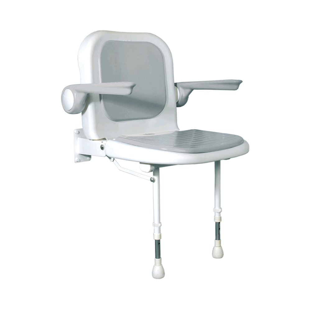 ARC DS4230-GR Deluxe Standard Seat with Back and Arms, Gray