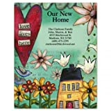 Love Lives Here Moving Announcements Postcards - Set of 24, Personalized with Address, 5-1/4'' x 4'', New Address Cards, Just Moved Cards, Moving Cards