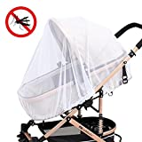 Aolvo Baby Mosquito Net for Stroller Premium Collapsible Mosquito Net Infant (Toddler) Universal Size Portable & Durable Full Mesh Cover for Cribs/Car Seats/Bassinets/Carriers/Playpens