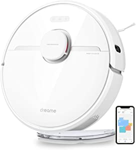DreameTech D9 Robotic Vacuum and Mop Cleaner, LDS Laser Navigation Robot Vacuum Sweep and Mop 2-in-1, 3000Pa Strong Suction Power, 150min Runtime, SLAM Smart Planning for Pet Hair, Carpet, Hard Floor