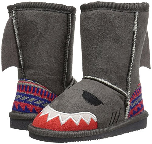 Pictures of MUK LUKS Boys Kid's Finn Shark Grey 9 M US Toddler 3