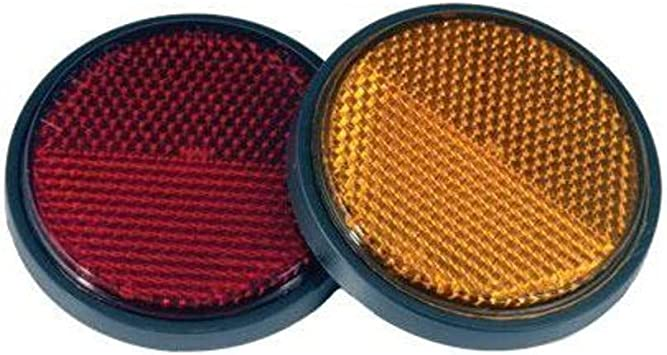 CHRIS PRODUCTS ROUND REFLECTOR 2-1//2 INCH STUD MOUNTED AMBER