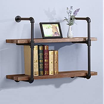 ou0026k furniture 31inch vintage industrial pipe wall shelf rustic pipe bracket for shelves