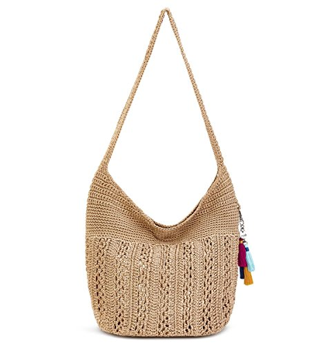 Crochet Hobo Bag - The Sak Palm Springs Crochet Hobo (Bamboo with Gold)