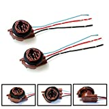 iJDMTOY (2) 3156 3157 Pre-Wired Harness Sockets For Repair, Replacement, Install LED Bulbs For Turn Signal Lights, DRL Lamps or Brake/Tail Lights