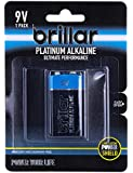 Premium 9 Volt Alkaline Battery Mercury Free Long Lasting Power Home Office, (BR0050)